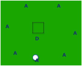 Soccer defending game