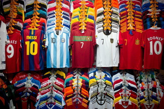 Soccer is global sport jerseys