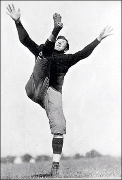 Man kicking football - who invented football
