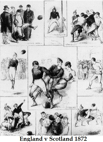Who invented football - England v Scotland 1872